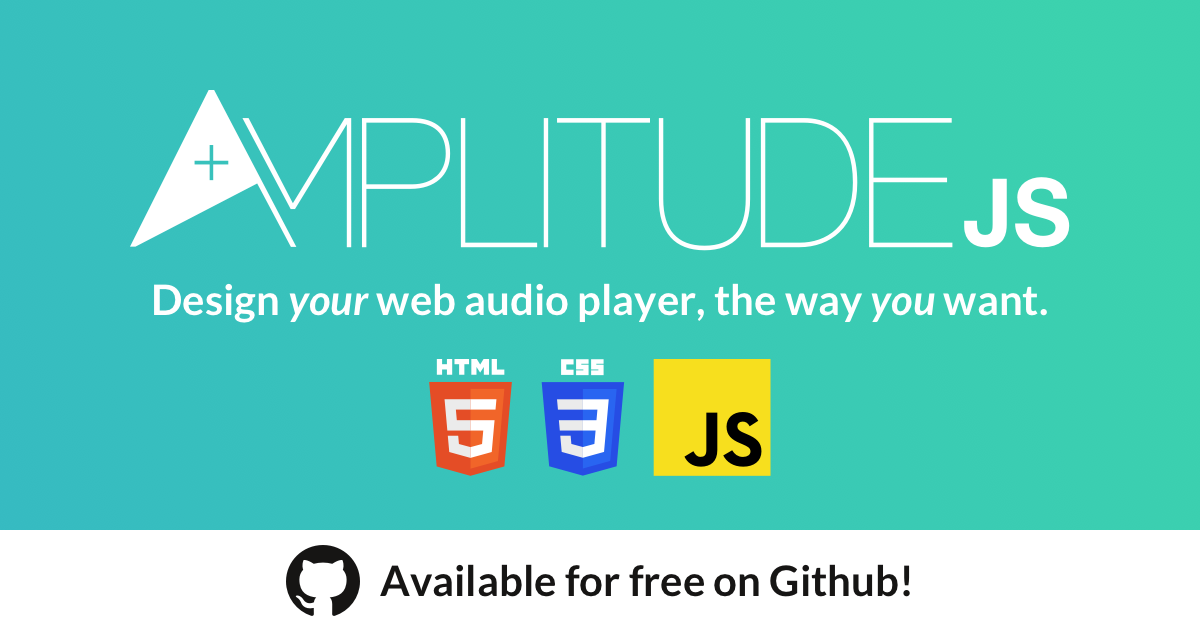AmplitudeJS: Design your web audio player, the way you want